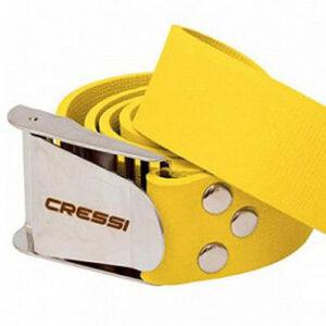 Cressi Quik-release Elastic Belt yellow